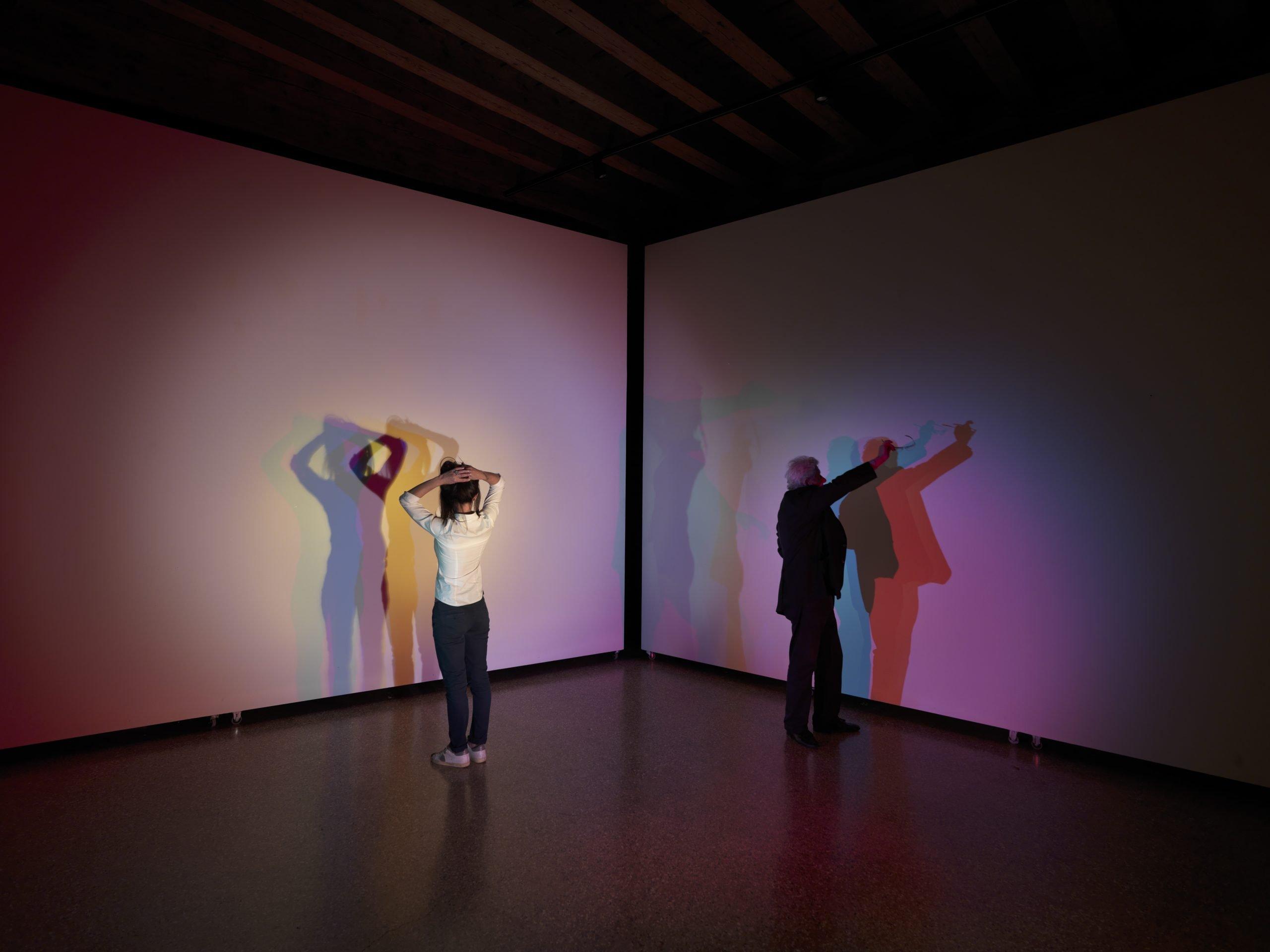 Alberto Biasi, Tu Sei, 1973, mixed media:LED light projectors, 20,47 x 19,29 x 56,70 inch