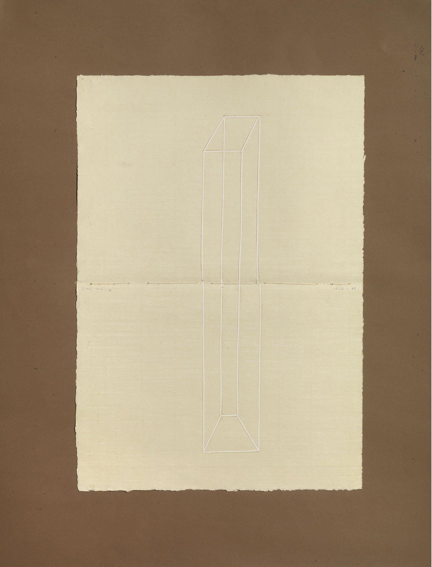 Colombo Gianni, Senza titolo, 1975, tecnica mista e collage su cartone, 67,5x51,6 cm