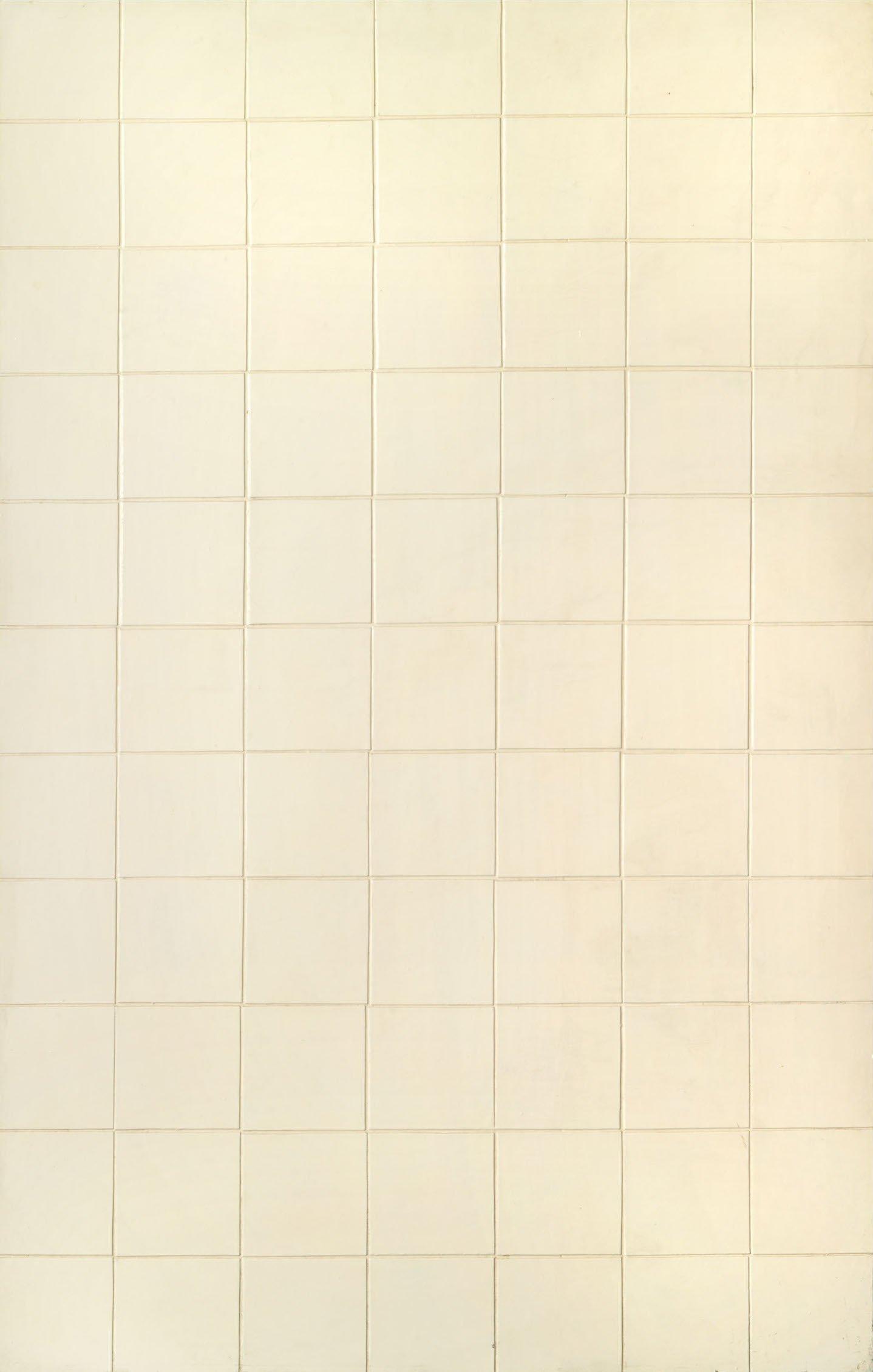 Sergio Lombardo, Bianco 77, 1961, émail sur bois, 113x72 cm
