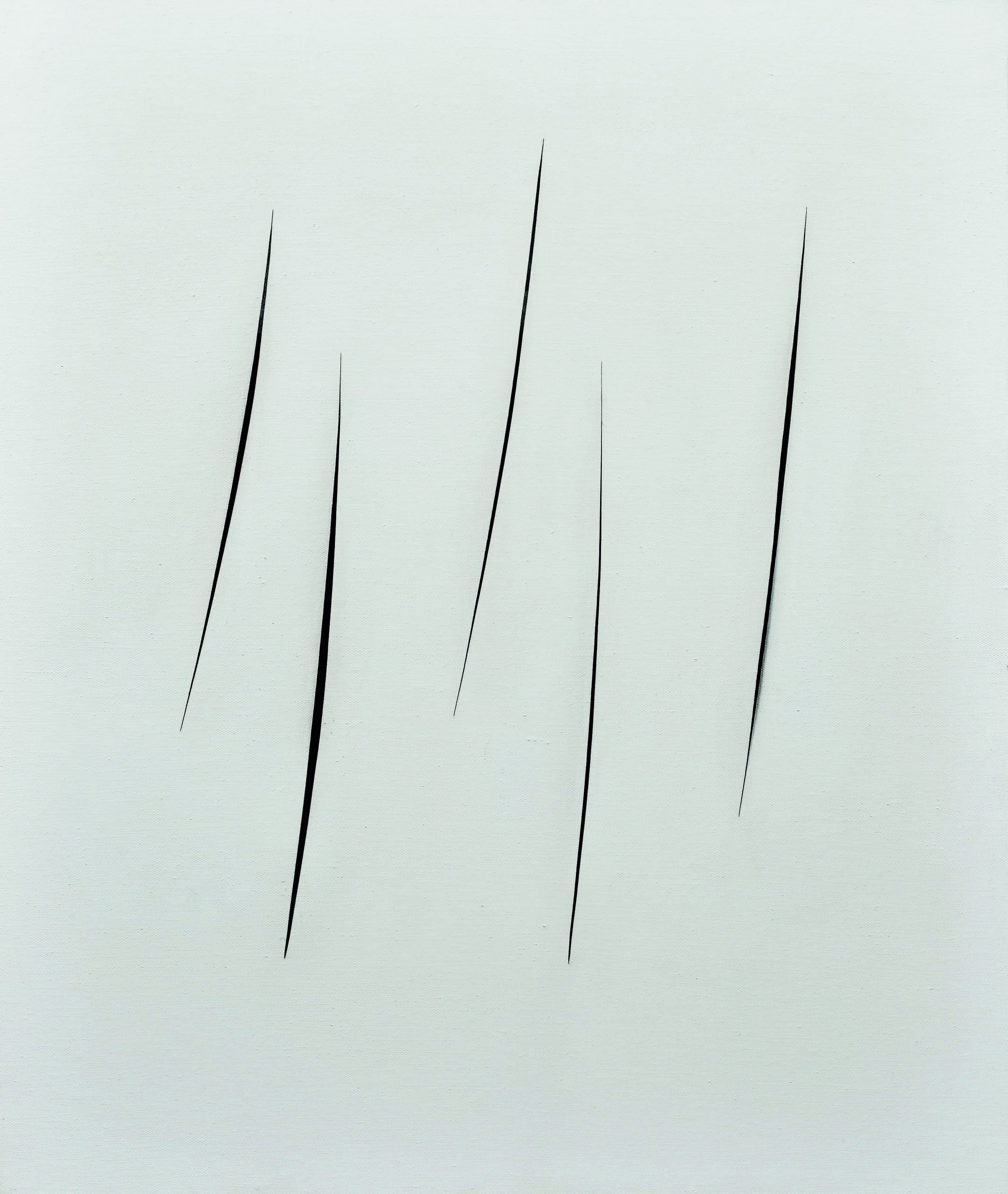 Lucio Fontana, Concetto spaziale, Attese, 1965, hydro peinture sur toile, 100x81 cm