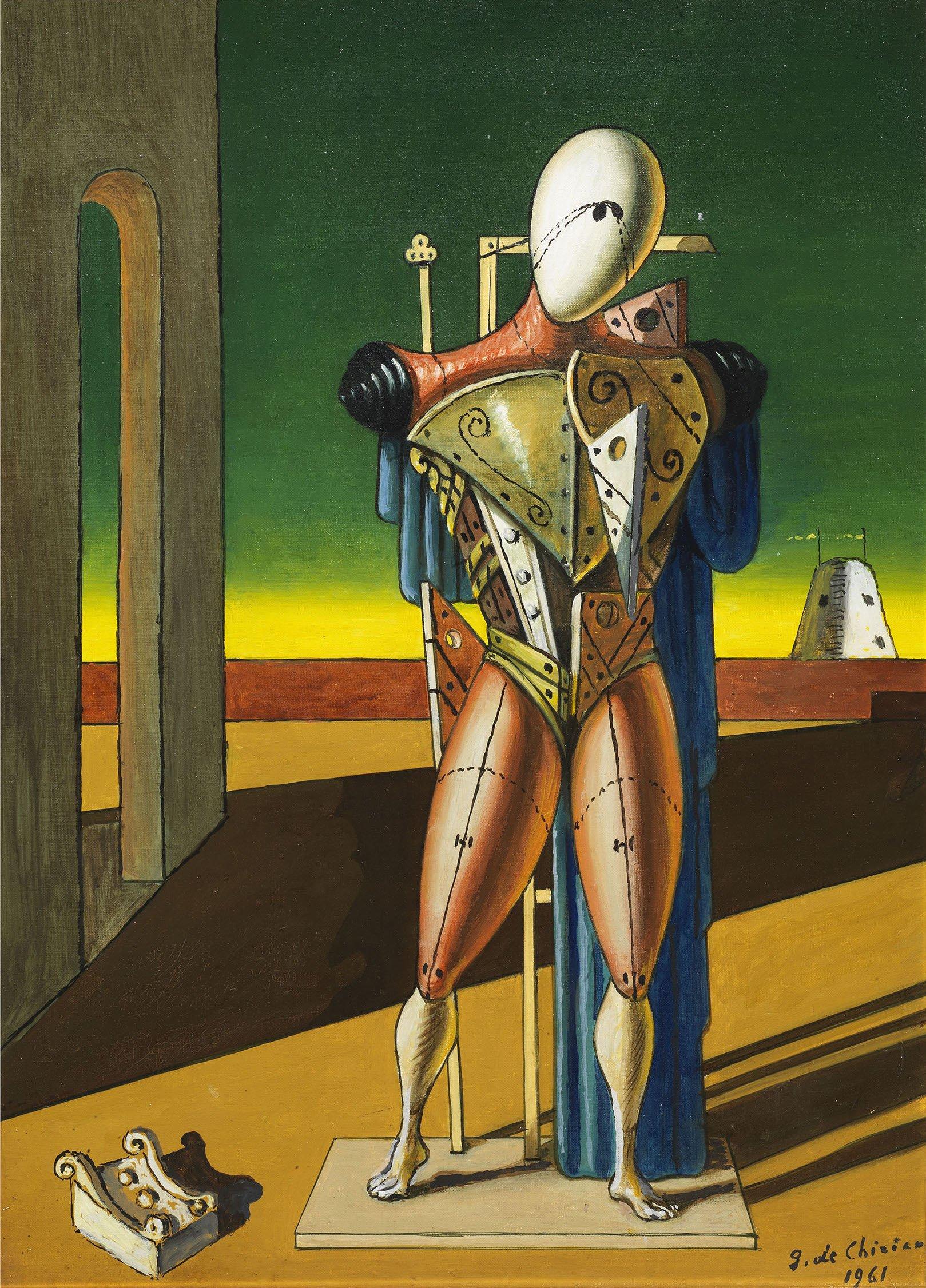 Giorgio de Chirico, Trovatore, 1961, olio su tela, cm 56x40