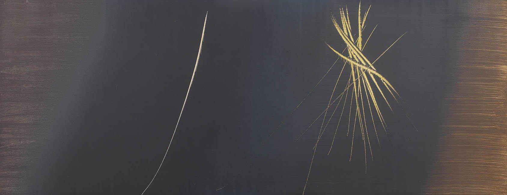 Hans Hartung, T 1962 - R 3, 1962, acrilico su tela, cm 95x250