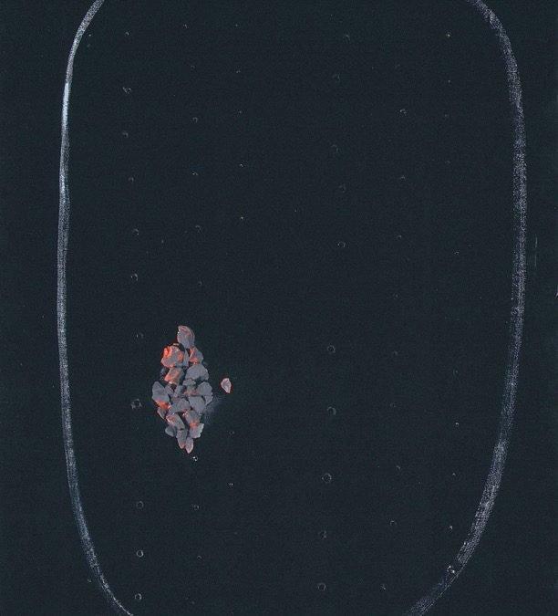 Lucio Fontana, Concetto spaziale, 1956, 97x67 cm