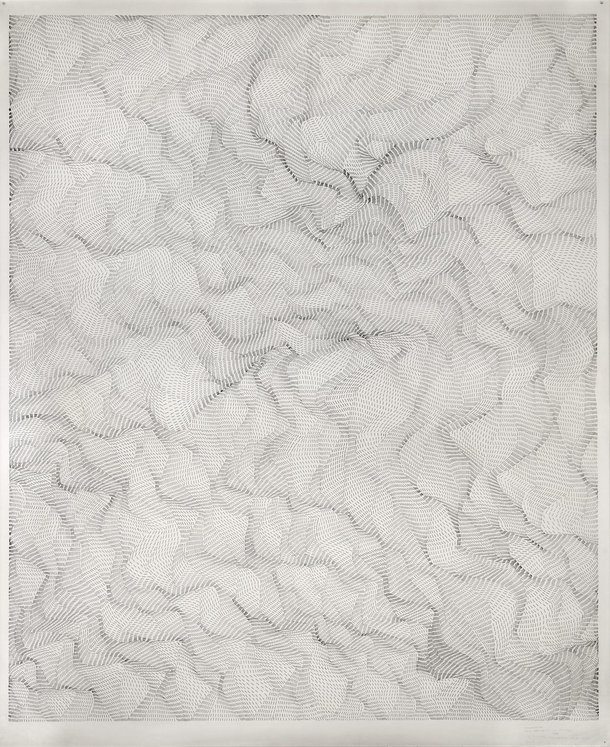 Dadamaino, Il movimento delle cose, 1998, 122 x 100 cm