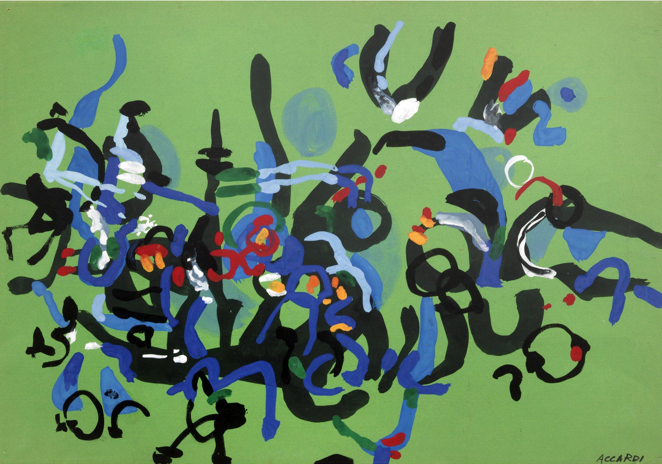 Carla Accardi, Senza titolo, 1953-54, 35 x 50 cm