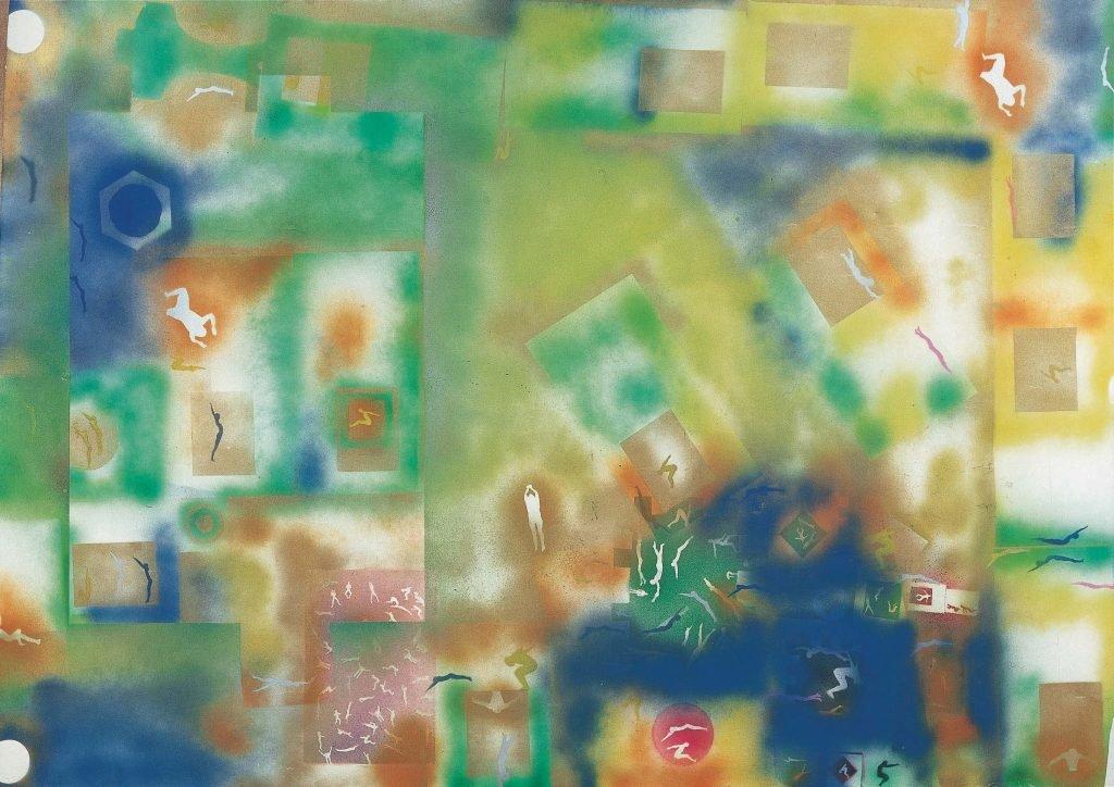 Boetti, Senza titolo (Piscine), 1980, 160x225 cm